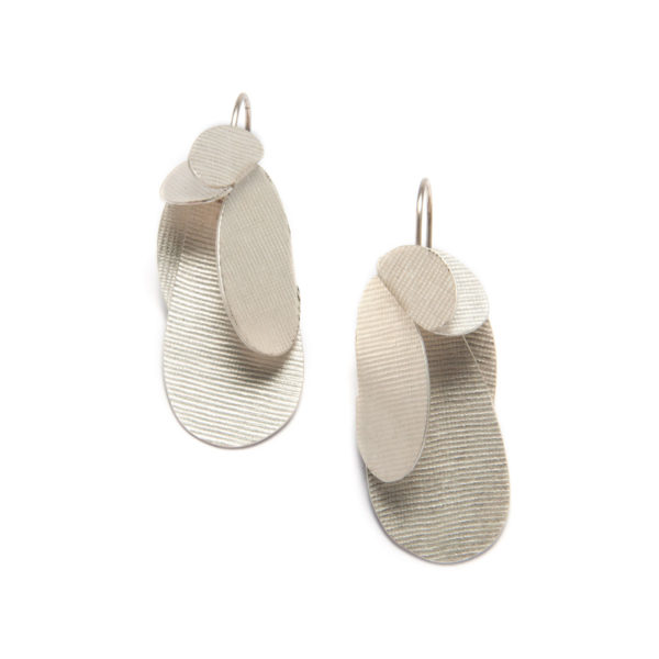 leaves and drops earrings silver