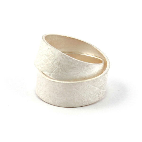 wrap ring double silver